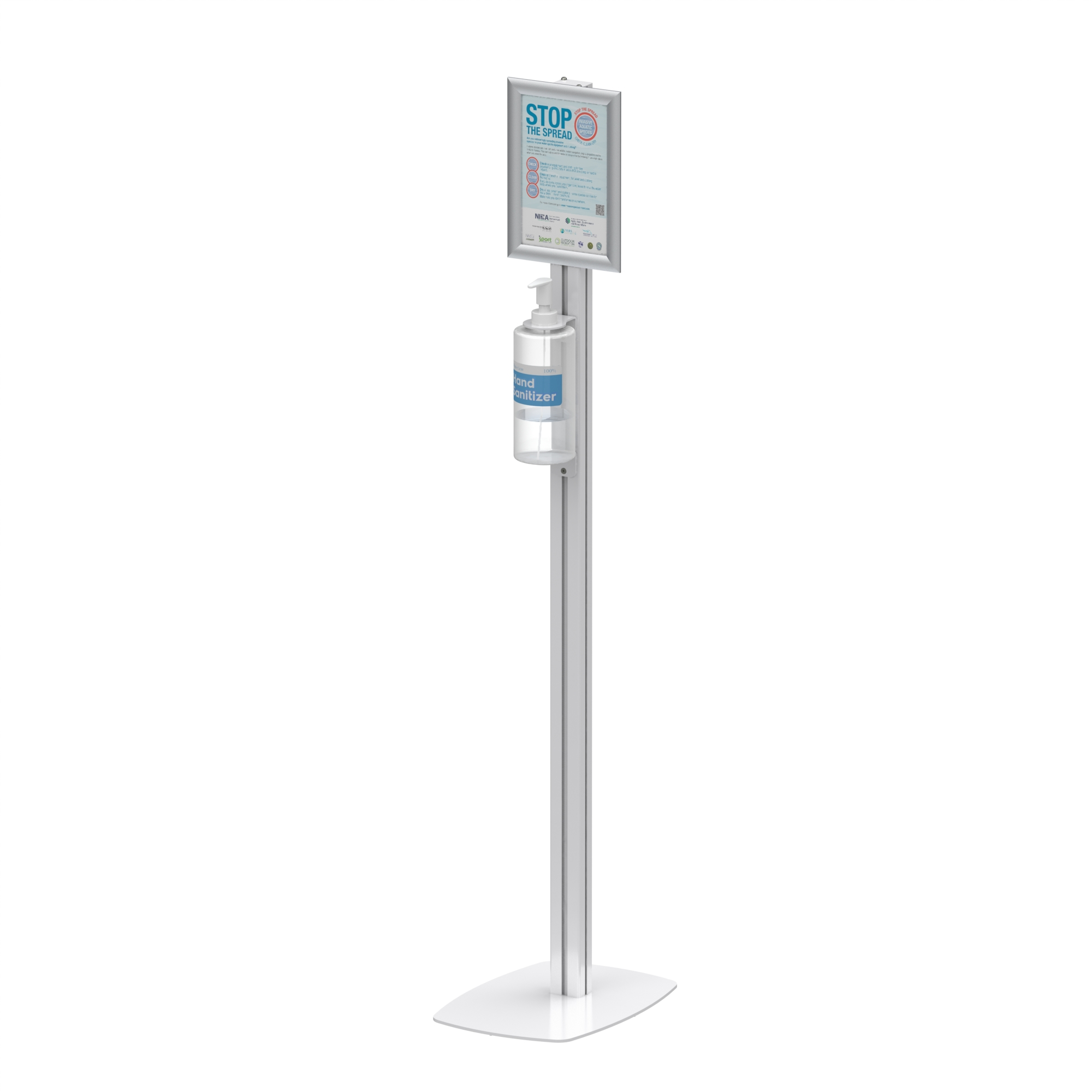 Hand Sanitizer Dispenser Station Stand DS-F05B With acrylic sanitizer holder