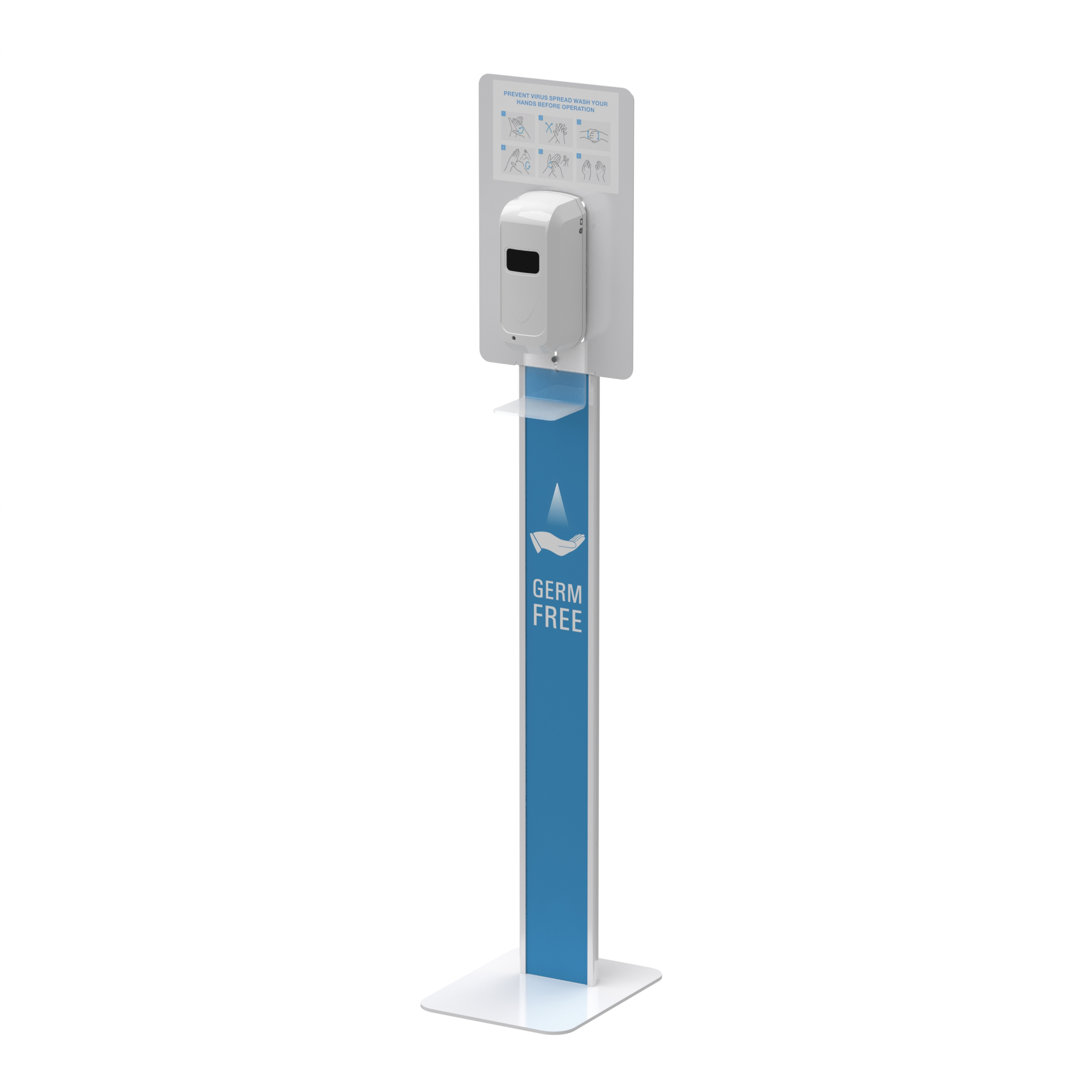 Hand Sanitizer Dispenser Station Stand DS-F09B With Top Panel