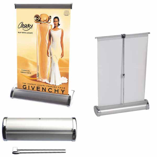 Table top mini roll up banner stand R-13B