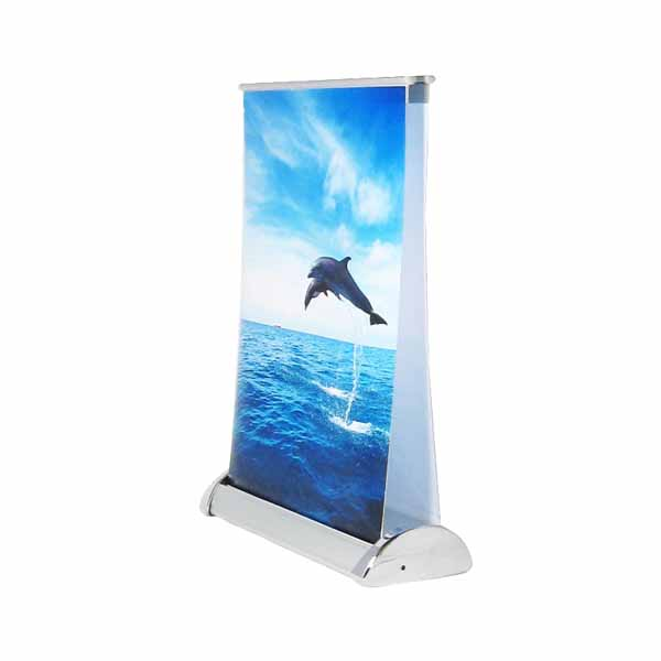Table top mini roll up banner stand R-13D