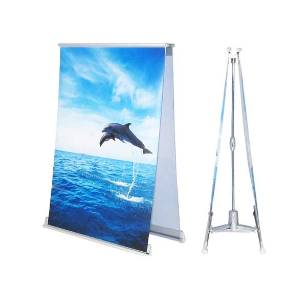 Table top mini L banner stand X-B2D