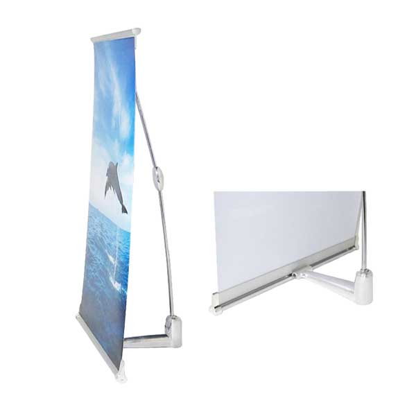 Table top mini  L banner stand X-B2S